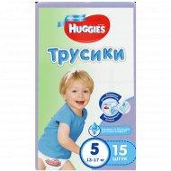Трусики «Huggies» для мальчиков, размер 5, 13-17 кг, 15 шт