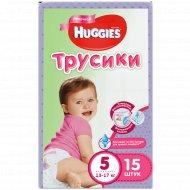 Одноразовые трусики «Huggies» для девочек, размер 5, 13-17 кг, 15 шт