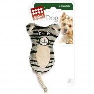 Игрушка для собак «GiGwi» кот, с двумя пищалками, 10 см.