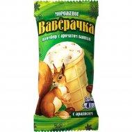 Мороженое «Ваверачка» пломбир с ароматом ванили с арахисом, 80 г.