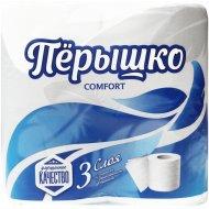Туалетная бумага «Перышко» Comfort, трехслойная, 4 шт.