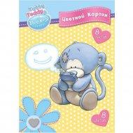 Набор цветного картона «Tatty Teddy» 8 цветов, А4, BNF-ACC-8/8.