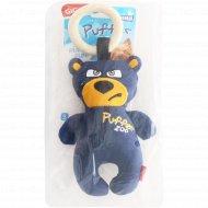Игрушка для собак «GiGwi» Puffer ZOO, медведь с пищалкой, 26 см.