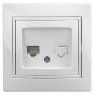 Розетка «Intro» 1-302-01, телефонная RJ11, IP20, CУ, Plano.