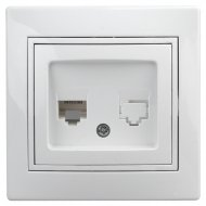 Розетка «Intro» 1-303-01, информационная RJ45, IP20, CУ, Plano.