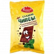 Чипсы сладкие «Вышний город» с шоколадом и мятой, 60 г