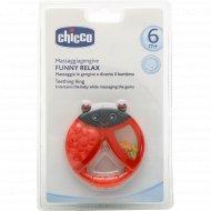 Прорезыватель-игрушка «Chicco» Funny Relax, 6+ с погремушкой.