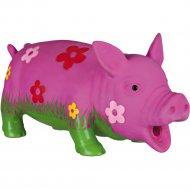 Игрушка «Trixie» для собаки, свинка с цветами, со звуком, 20 см.