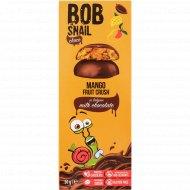 Фруктовый снек «Bob snail» манго в молочном бельгийском шоколаде, 30 г