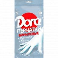 Перчатки виниловые «Dora» универсальные, размер S, 10 шт.