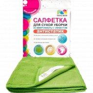Салфетка из микрофибры «Malibri» антистатик для сухой уборки, 30х30 см.