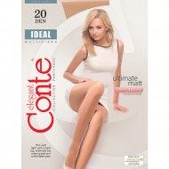 Колготки женские «Conte» Ideal, 20 den, размер 2, bronz