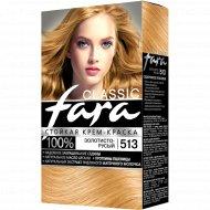 Крем-краска стойкая для волос «Fara Classic» тон 513, золотисто-русый.