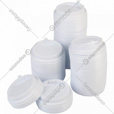 Крышки с закрытым питейником для стаканов 300 мл, 100 шт.