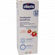 Зубная паста «Chicco» со вкусом клубники, 12 мес+, 50 мл.
