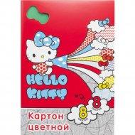 Набор цветного картона «Hello Kitty» 8 листов, А4, HKO-ACC-8/8-4.