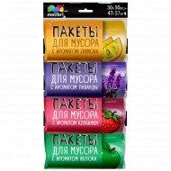 Пакеты для мусора «Malibri» ароматизированные микс, 30 л, 50 шт.