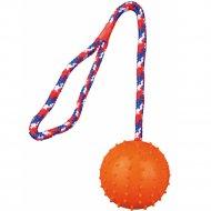 Игрушка «Trixie» для собаки, каучуковый мячик на веревке, D-7смх30см.