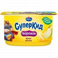 Паста творожная «СуперКид» банан-яблоко 3,5%, 110 г.