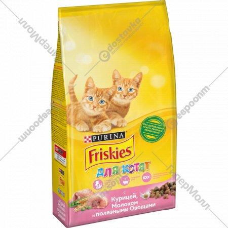 Корм для котят «Friskies» с курицей, молоком и овощами, 2 кг.