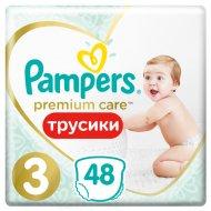 Трусики-подгузники «Pampers» Premium Care, 6-11 кг, размер 3, 48 шт.
