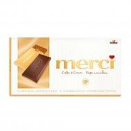 Молочный кофейный шоколад «Merсi» с белым шоколадом, 100 г.