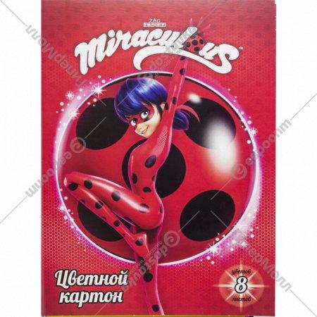 Набор цветного картона «Ladybug» 8 цветов, А4, LB-ACC-8/8.