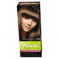 Крем-краска для волос «Fara Natural Color» тон 306, золотистый каштан.