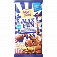 Шоколад молочный «Alpen Gold Maxfan» 160 г.