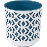 Кашпо «Lamela» Aztek, LA792-48, белое/синее