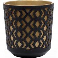 Кашпо «Lamela» Aztek, LA791-49, черное/золотое