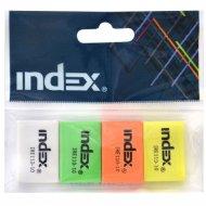 Набор ластиков «Index» 26x18x8 мм, 4 шт.