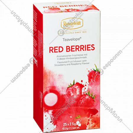 Напиток чайный «Ronnefeldt» красные ягоды, 25 пакетиков.