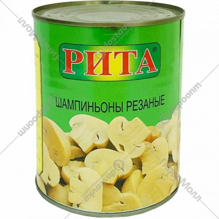 Шампиньоны консервированные «Rita» резанные, 400 г.