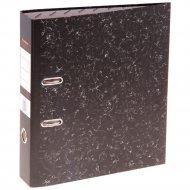 Регистратор «Tiralana» 50 мм чёрный мрамор с металлическим уголком.