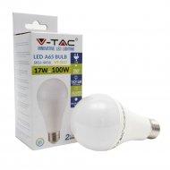 Светодиодная лампа «V-TAC» SKU-4456, 17 ВТ, 1800LM, А65, Е27, 2700К.