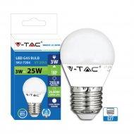 Светодиодная лампа «V-TAC» SKU-7204, 3Вт, G45, Е27, 6400К, VT-2053.