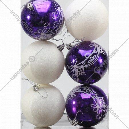 Набор шаров 8 см, 6 шт.