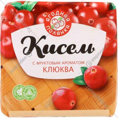 Кисель «Ягодная полянка» с фруктовым ароматом клюква, 220 г.
