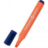 Маркер текстовый «Optima» треугольный, оранжевый, 1-4.5 мм, 15825.