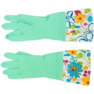 Резиновые хозяйственные перчатки.