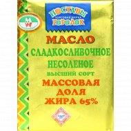 Масло сладкосливочное «Поставы городок» несоленое, 65%, 180 г