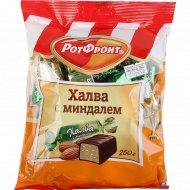 Халва глазированная шоколадной глазурью «Рот Фронт» с миндалем, 250 г.