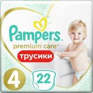 Трусики «Pampers» Premium Care Pants 9-14кг, размер 4, 22 шт.