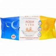 Салфетки влажные детские «Aqua Viva» ромашка, 60 шт.