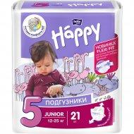 Подгузники для детей «Bella Baby Happy» junior 12-25 кг, 21 шт.