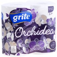 Туалетная бумага «Grite New Orchidea Gold» трехслойная, 4 рулона.