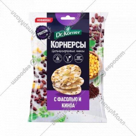 Чипсы цельнозерновые «Dr.Korner» с горошком, фасолью и киноа, 50 г.