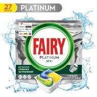 Капсулы для посудомоечных машин «Fairy» Platinum All in One, 27 шт