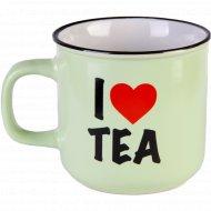 Чашка керамическая «I love tea» 480 мл.